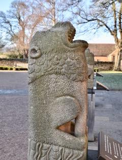 Ornate statue outside Rosslyn Chapel