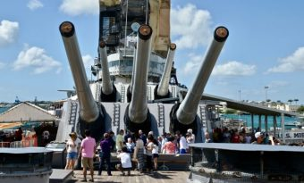 Battleship Missouri at Pearl Harbour USA