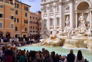 Trevi Fontana or Trevi Fountain Rome, Italy