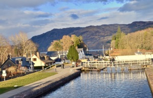 Neptune's staircase. Caledonian Canal at Fort Augustus, Loch Ness.