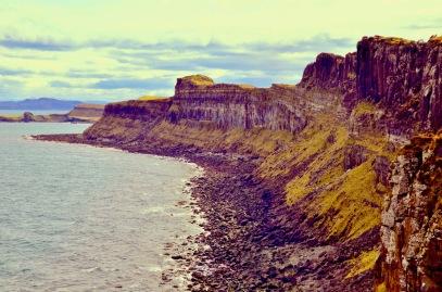 Kilt Rock, free tourist attraction on Skye, Scotland