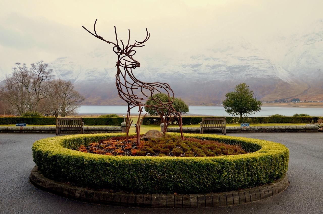 Torridon hotel entrance, Highlands Scotland