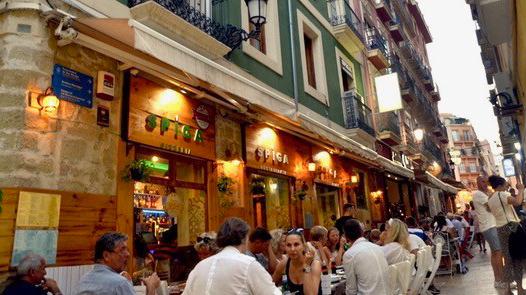 Alicante city restaurant, Spain