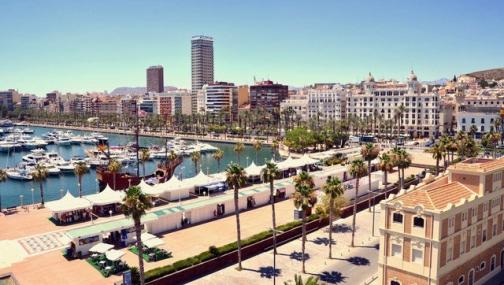 Alicante city port in Spain