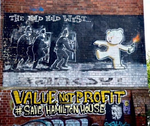 Stokes Croft on the Banksy street art trail.