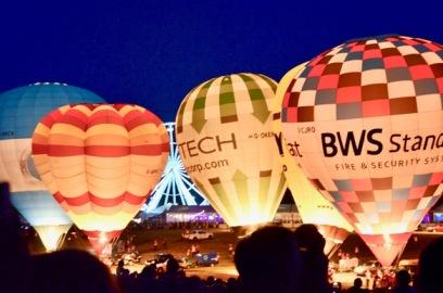 ballons night light at Bristol balloon fiesta
