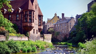 Dean Village, Old mills of Edinburgh city and the water of Leith