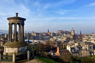 Calton Hill Edinburgh city centre.