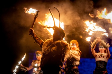 PyroCeltica , Edinburgh Hogmanay Torchlight Procession, Scotland, UK - 30th December 2018