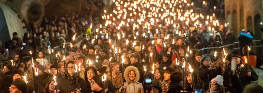 Edinburgh Torchlight Procession,