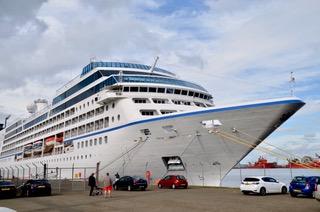 cruise ship at Port of Leith Edinburgh
