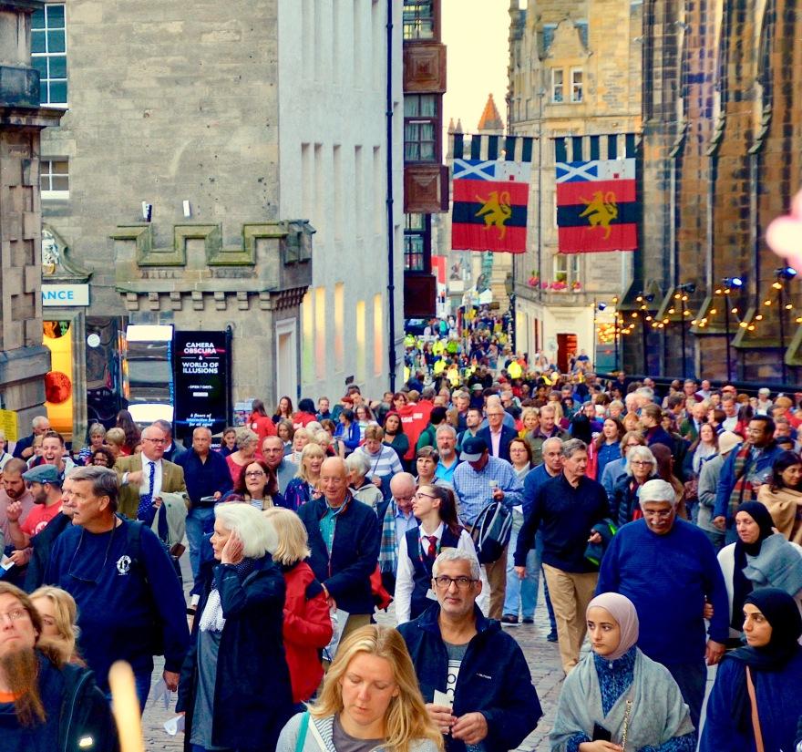 Crowds at the Edinburgh Military Tattoo