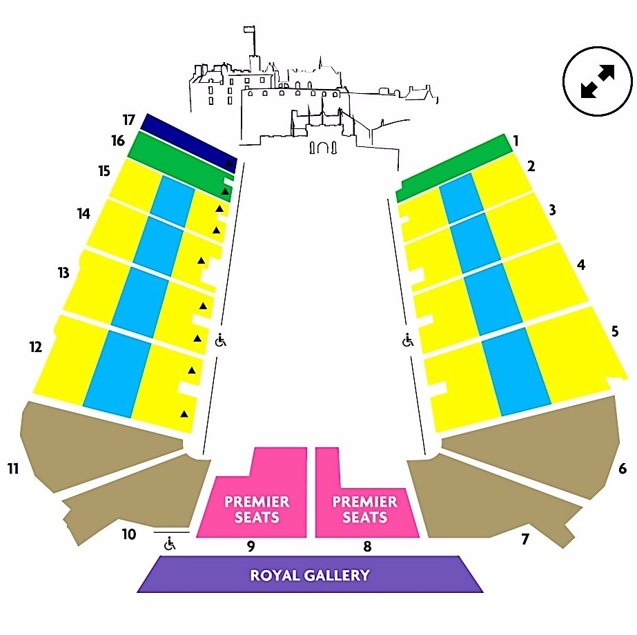 Seating Plan for the 2019Edinburgh Military tattoo