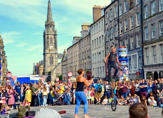 Performers on the Royal Mile