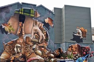 Glasgow city street mural trail.