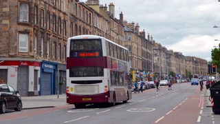Cycle lanes and Bus lanes Edinburgh