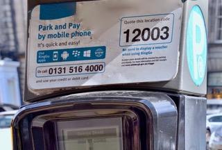 Edinburgh parking app