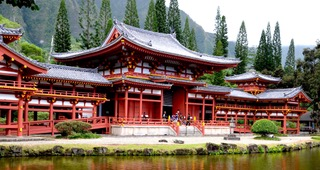 Byodo Temple in the Valley of the Gods, Hawaii.