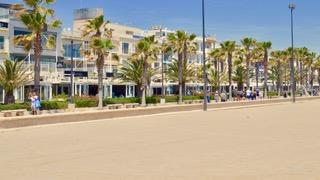 Neptuno promenade of Valencia, Spain.